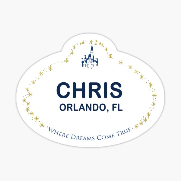 Chris From Orlando Sticker