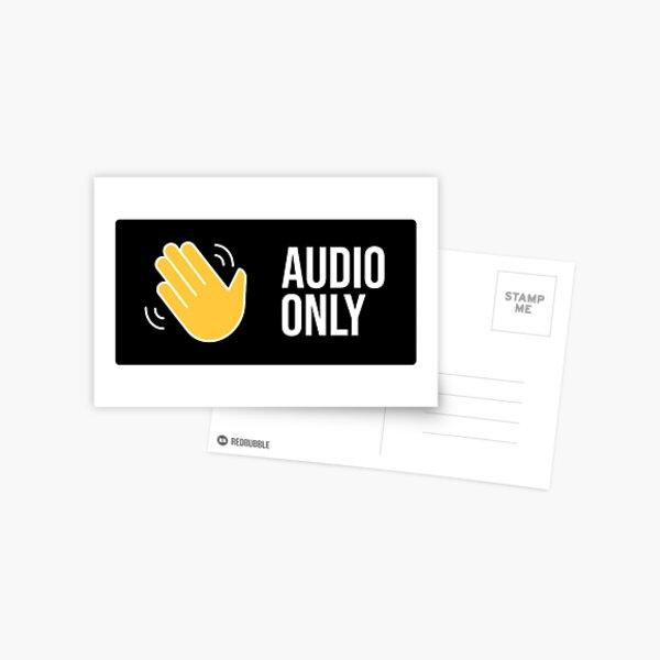 Audio only Postcard
