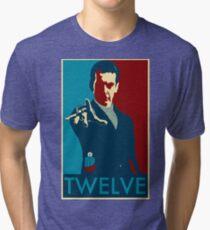 Peter Capaldi Hope Poster Tri-blend T-Shirt
