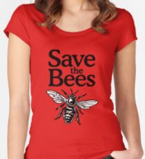 Save The Bees Beekeeper Quote Design Women's Fitted Scoop T-Shirt