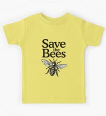 Save The Bees Beekeeper Quote Design Kids Tee
