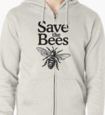 Save The Bees Beekeeper Quote Design Zipped Hoodie