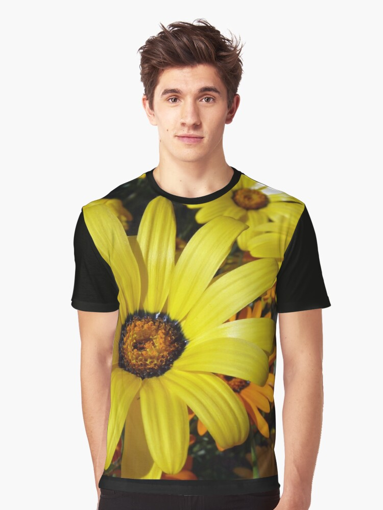 African Daisies - Springtime in Arizona Graphic T-Shirt Front