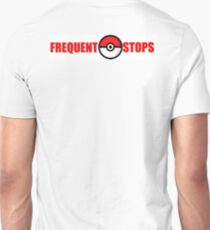 Pokemon Go - Frequent Stops - Recommended Size for Car is Large T-Shirt