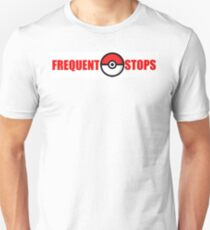 Pokemon Go - Frequent Stops - Recommended Size for Car is Large Unisex T-Shirt