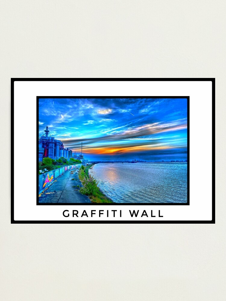 Alternate view of Graffiti Wall on the Thames Photographic Print
