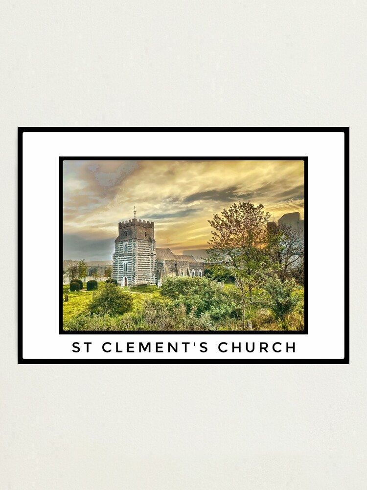 Alternate view of St Clements Church, West Thurrock Photographic Print