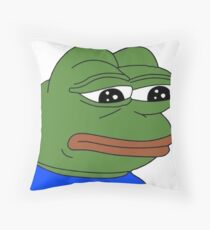 Pepe The Frog - The Original Meme Throw Pillow