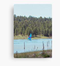 Boat on Lake Mary Canvas Print