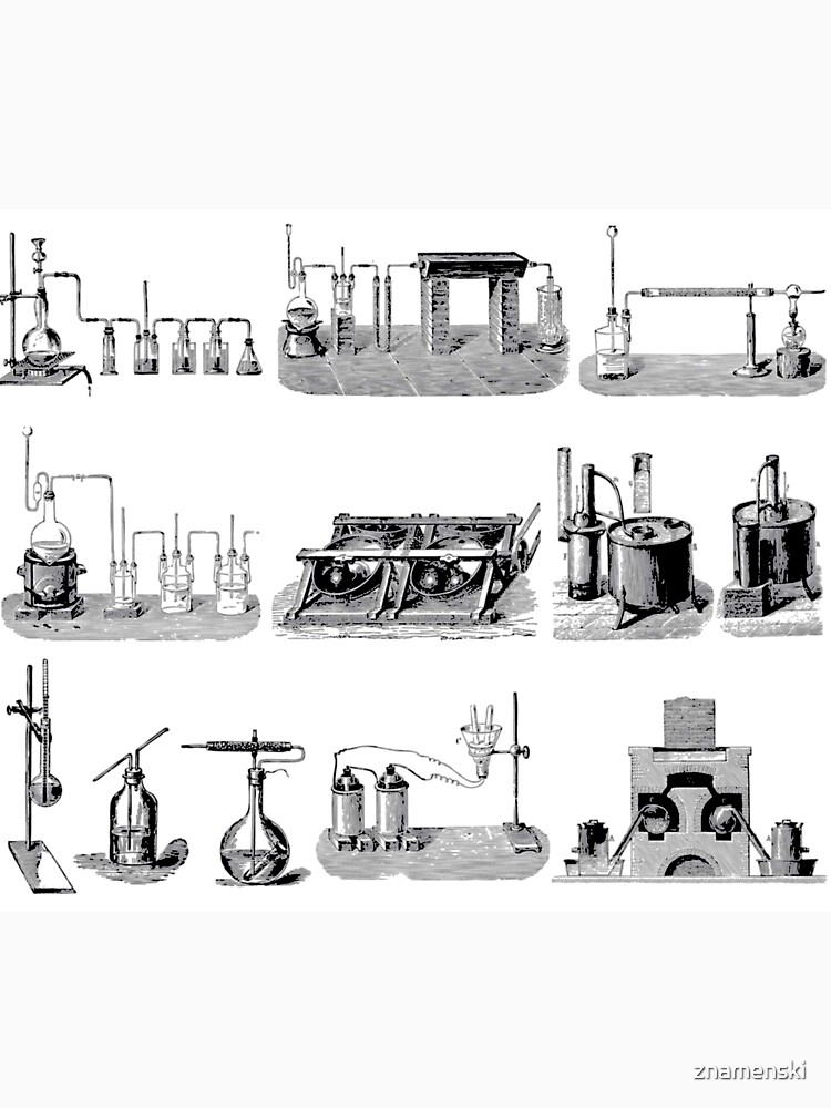 Vintage Science and Engineering Poster: Antique Chemistry by znamenski