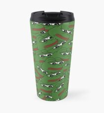 Sad Pepe Pattern Travel Mug