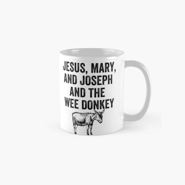 Jesus,Mary and Joseph And The Wee Donkey mug. Line of Duty Classic Mug
