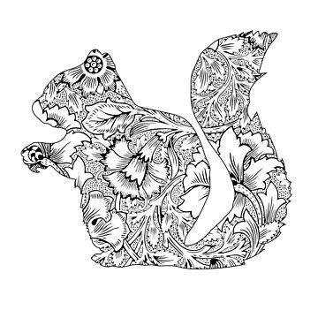 Floral Squirrel by Movement
