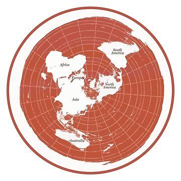 Flat Earth Maps by erliza