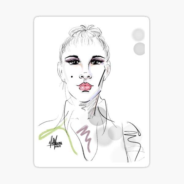 Fashionably Confident Sticker