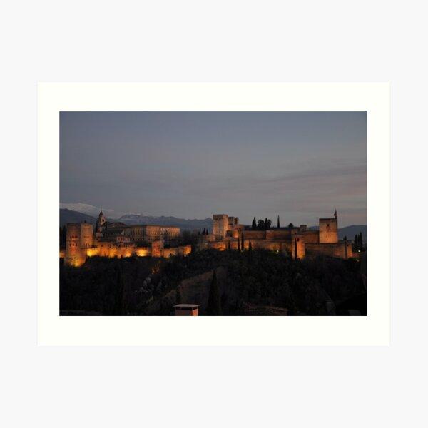 The Alhambra -Granada, Spain Art Print