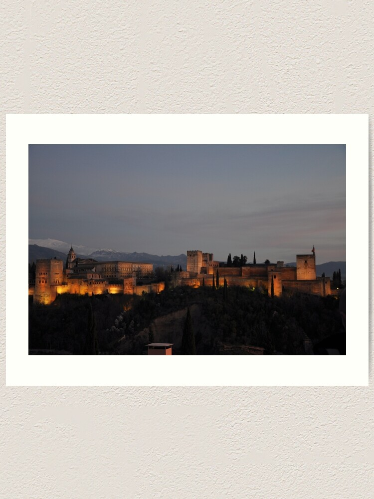 Alternate view of The Alhambra -Granada, Spain Art Print