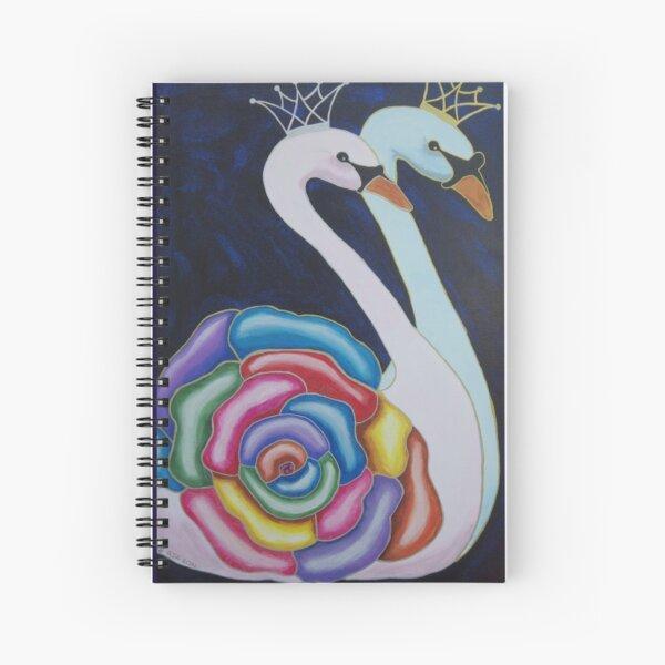 RoseSwans Spiral Notebook