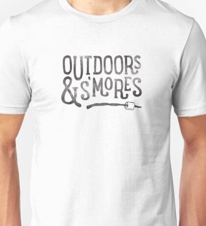 OUTDOORS & S'MORES Unisex T-Shirt