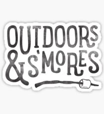 OUTDOORS & S'MORES Sticker