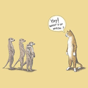 Cat and Meerkat by tummeow