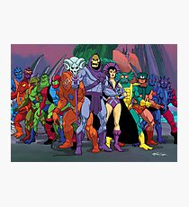 Evil Warriors Filmation Style Photographic Print