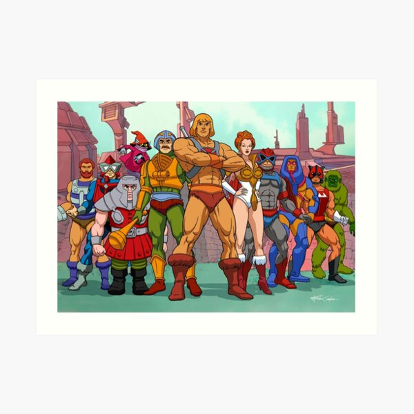 Heroic Warriors Filmation style Art Print