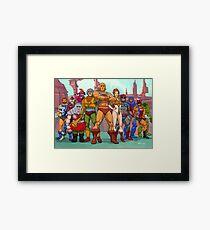 Heroic Warriors Filmation style Framed Print