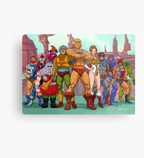 Heroic Warriors Filmation style Metal Print
