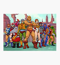 Heroic Warriors Filmation style Photographic Print