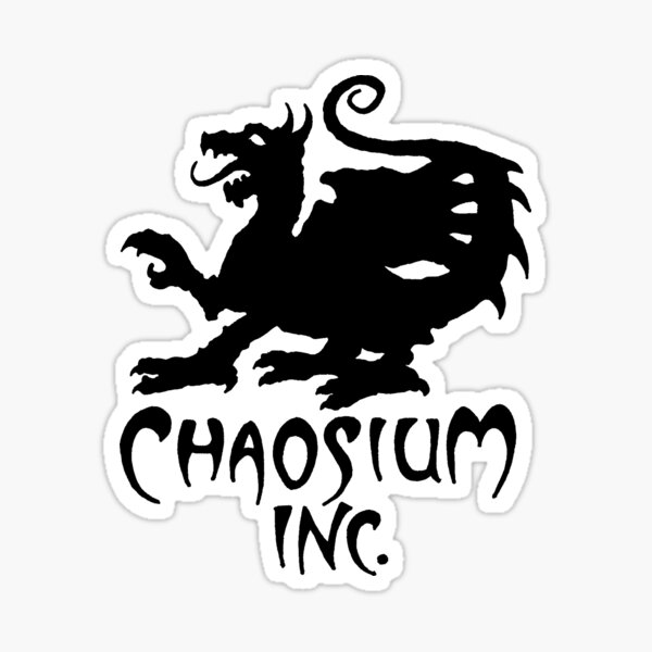 Official Chaosium Inc. Logo (Black) Sticker