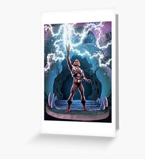 Most Powerful Man in the Universe transforming Greeting Card