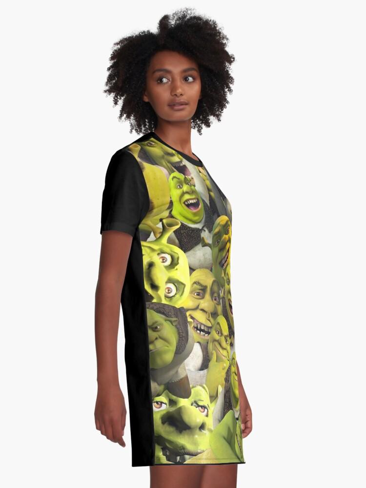 Alternate view of Shrek Collage  Graphic T-Shirt Dress