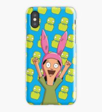 Louise Belcher Light Pattern Blue iPhone Case