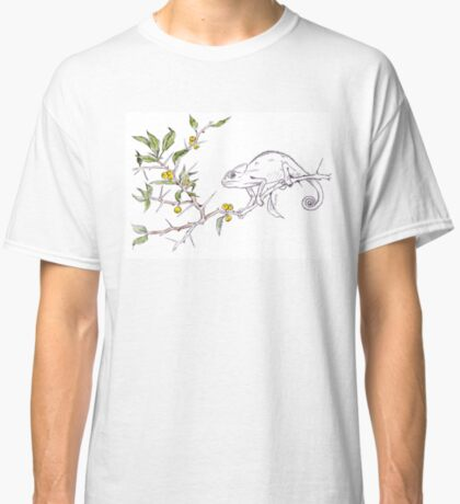 Kei-apple and a Chameleon - Botanical illustration Classic T-Shirt