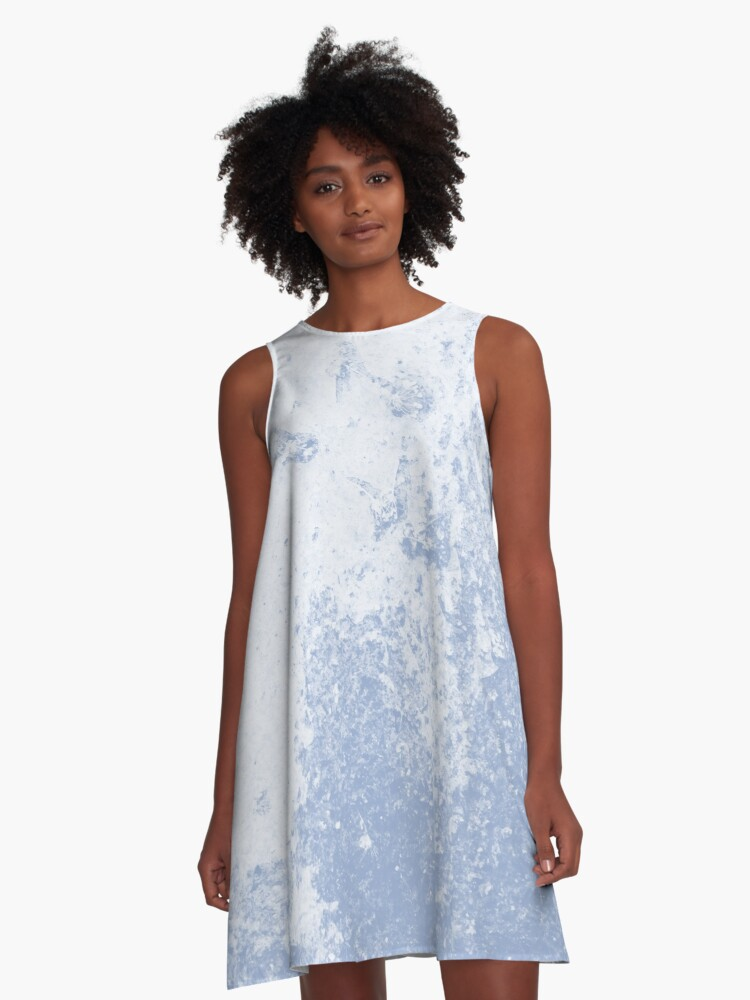 Earth Sweat Design (Serenity Color) A-Line Dress Front