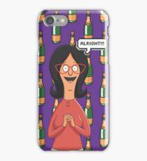 Linda Belcher Wine Pattern Purple iPhone Case/Skin