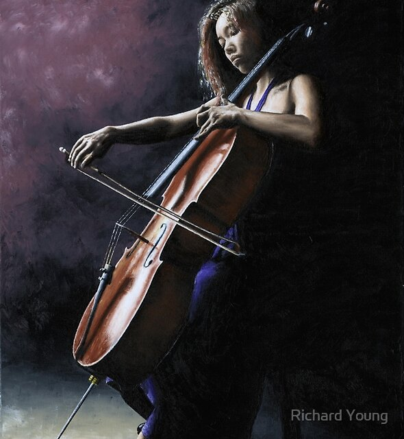 Emotional Cellist by Richard Young