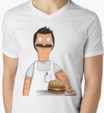Bob Belcher Burger Pattern Blue T-Shirt