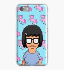 Tina Belcher Unicorn Pattern Blue iPhone Case/Skin