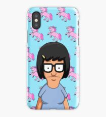 Tina Belcher Unicorn Pattern Blue iPhone Case