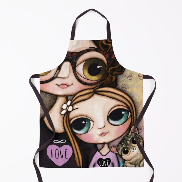 mother and daughter Apron