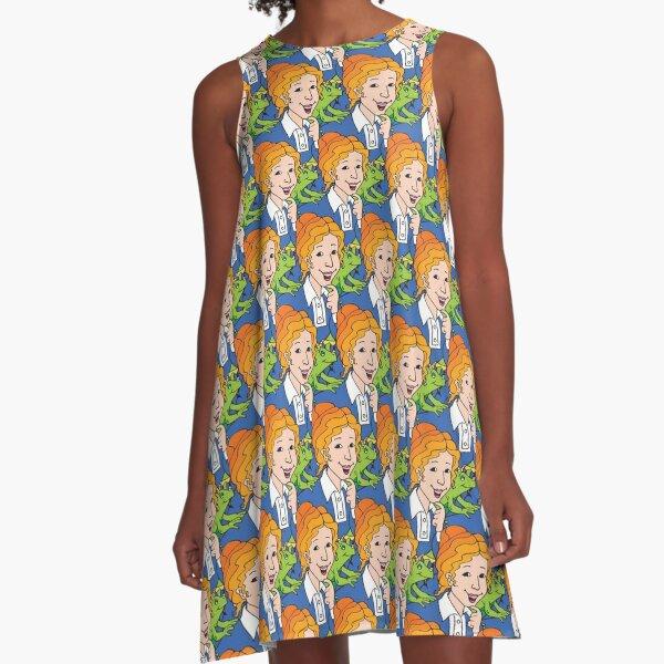 Frizzle Pattern A-Line Dress