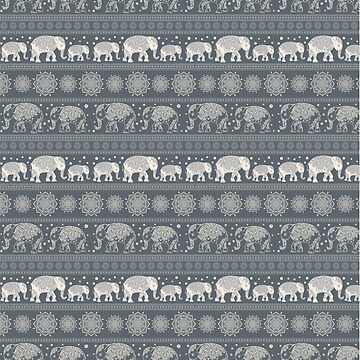 Pattern Elephant and mandala by anvino