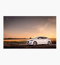 Hyundai Veloster Photographic Print