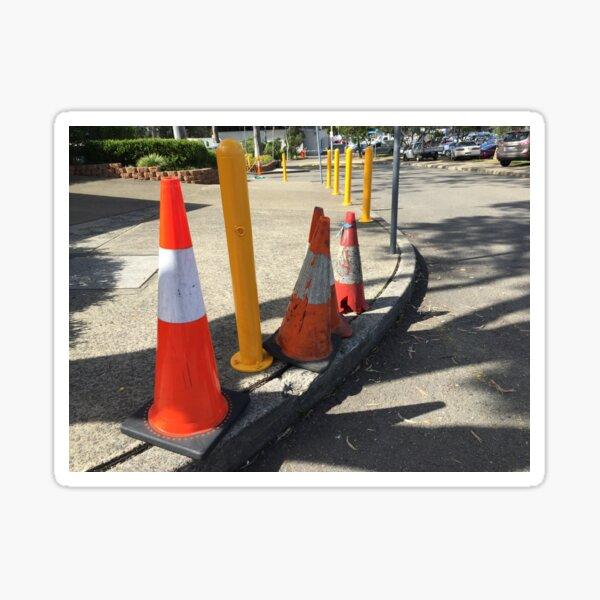 Traffic Cones Sticker