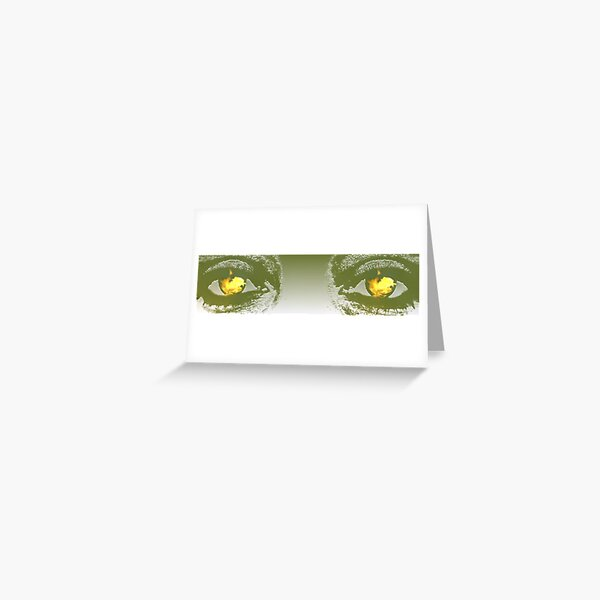 Fire in her Eyes Greeting Card
