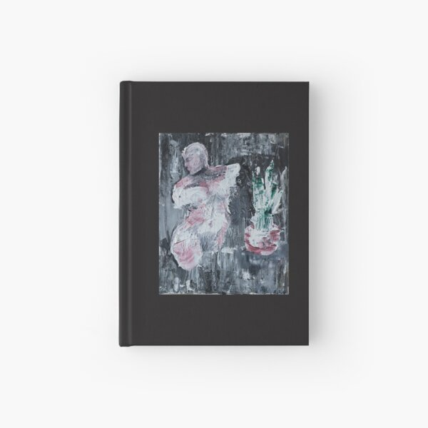 a woman and a plant Hardcover Journal