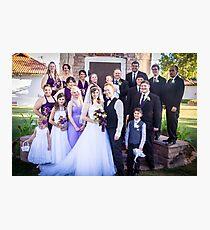 Tucker Wedding - Wedding Party Photographic Print