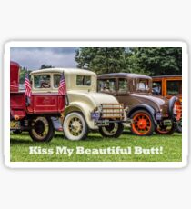 Classic Cars With Hot Butts Card Sticker